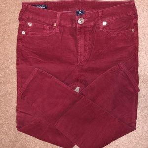 True Religion Pants Cords Halle Mid Rise NEW
